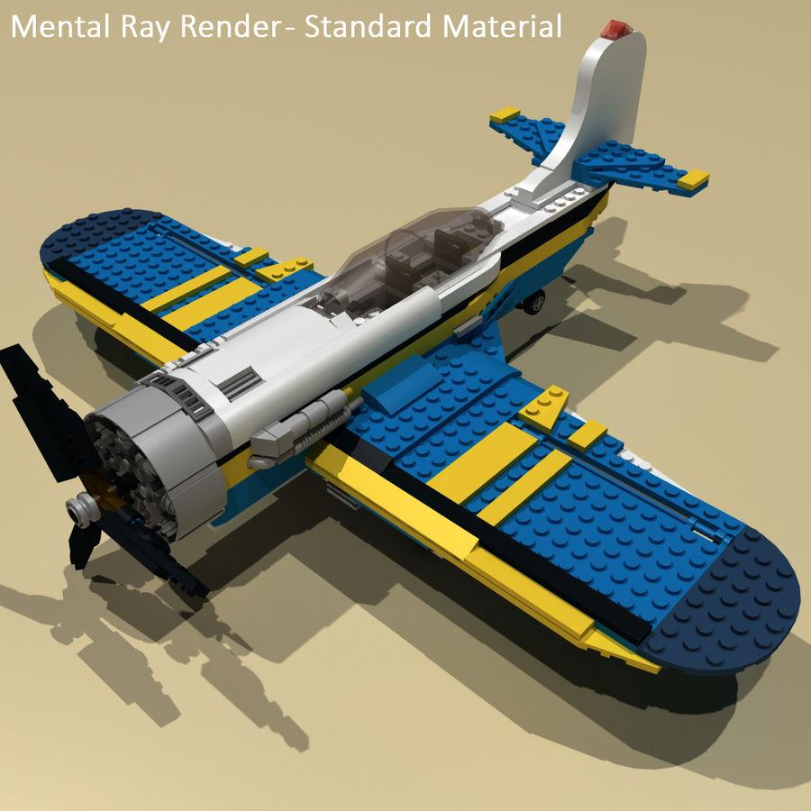 Avião LEGO 31011 royalty-free 3d model - Preview no. 21