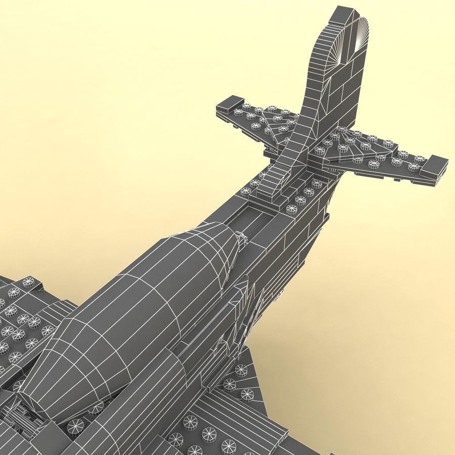 Avião LEGO 31011 royalty-free 3d model - Preview no. 16