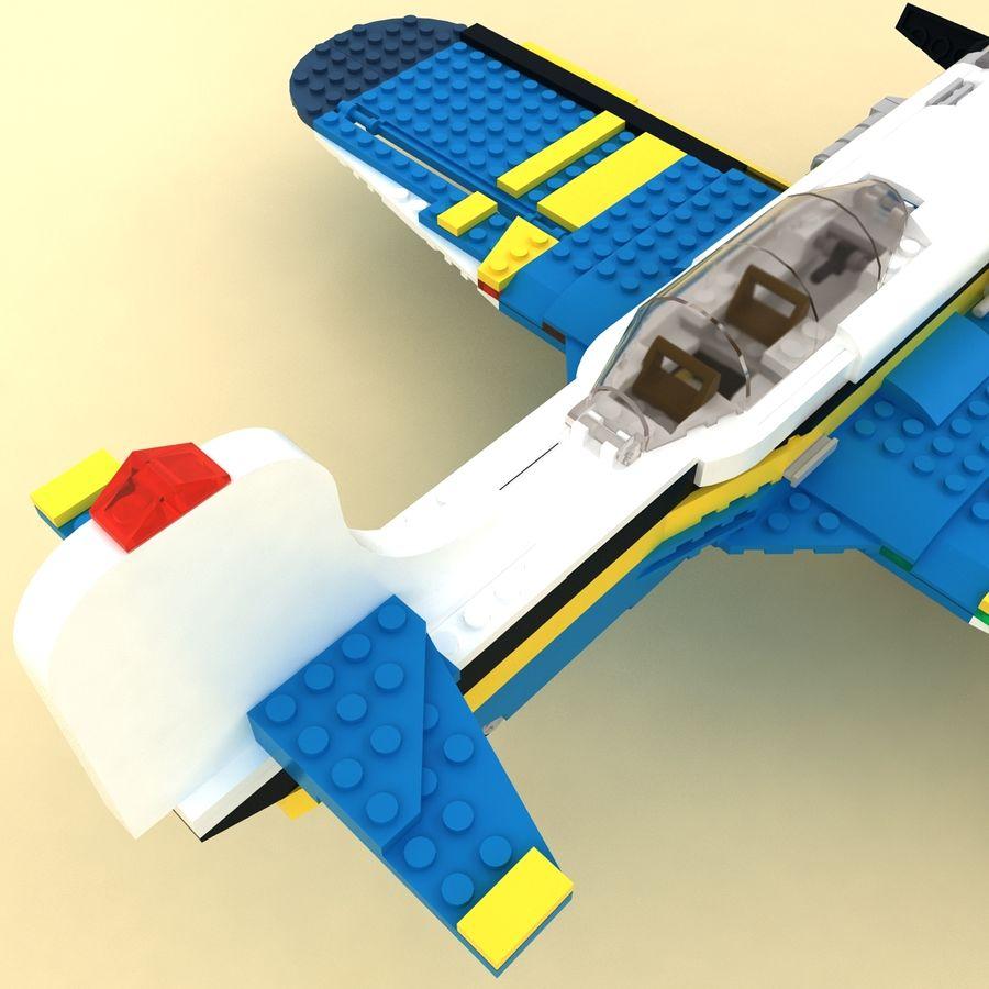 Avião LEGO 31011 royalty-free 3d model - Preview no. 6