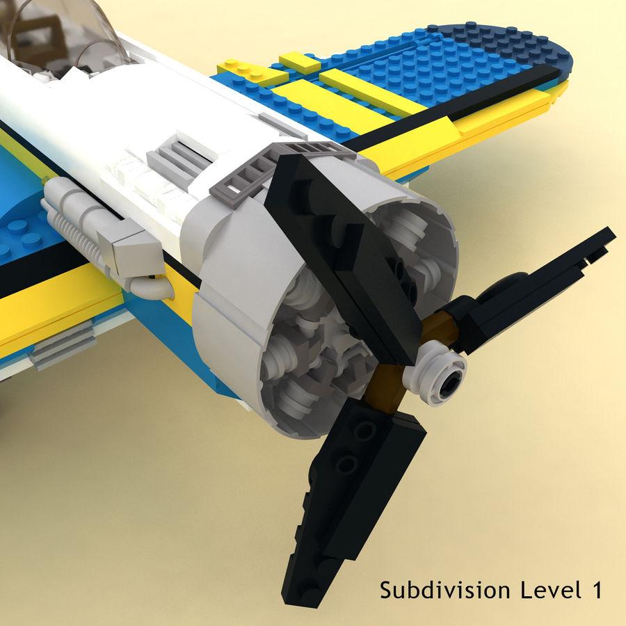 Avião LEGO 31011 royalty-free 3d model - Preview no. 8