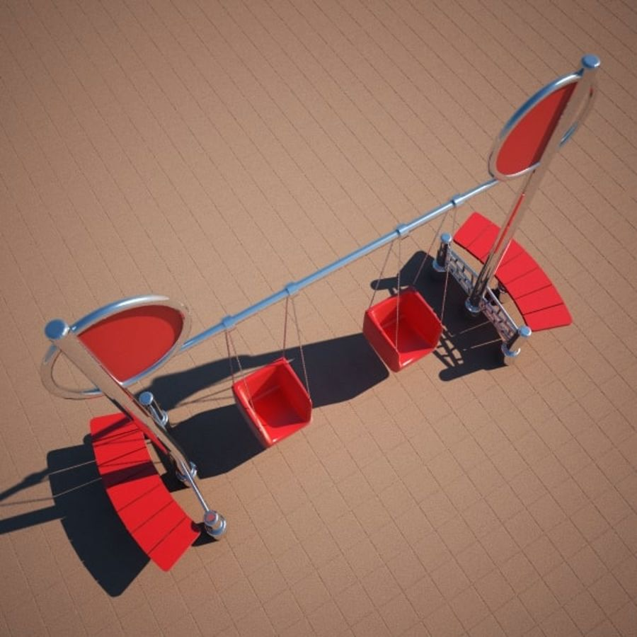 Swing 2 swing royalty-free 3d model - Preview no. 4