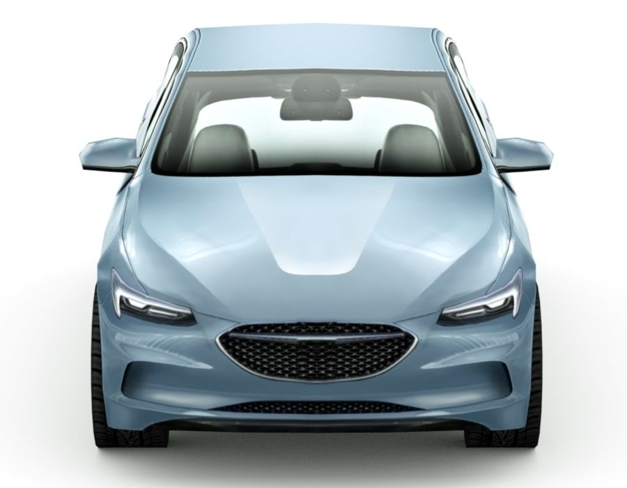 Generic Sedan v7 royalty-free 3d model - Preview no. 6