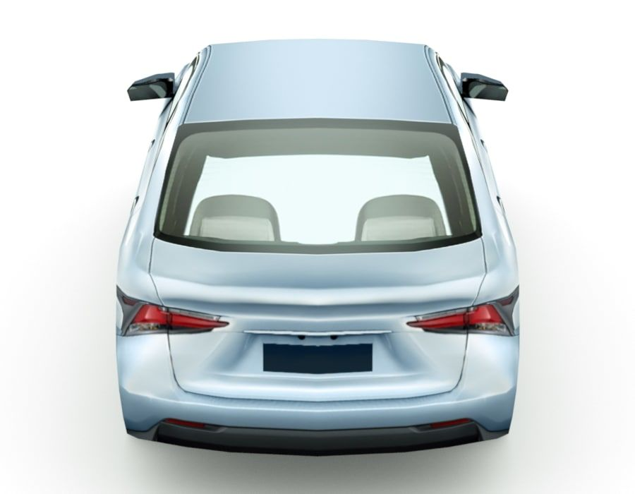Generic Sedan v7 royalty-free 3d model - Preview no. 5