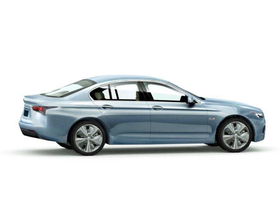 Generic Sedan v7 royalty-free 3d model - Preview no. 4