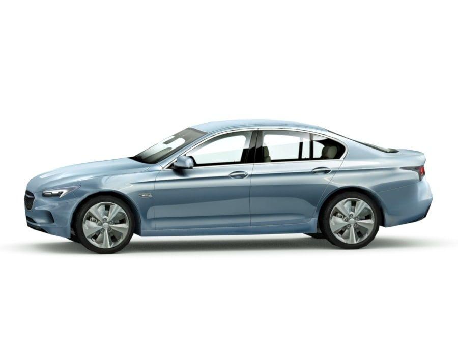 Generic Sedan v7 royalty-free 3d model - Preview no. 3