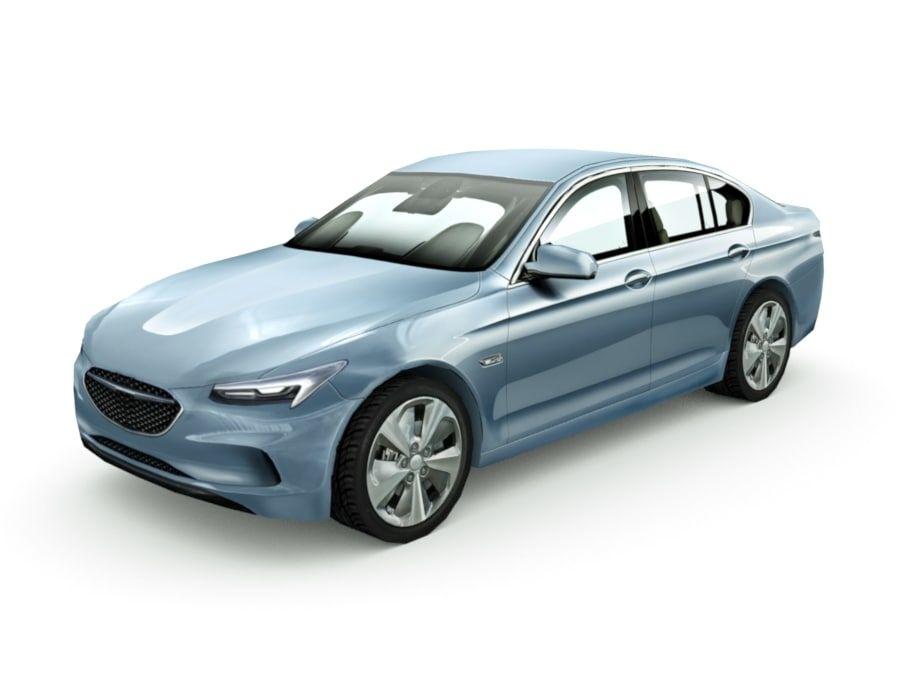 Generic Sedan v7 royalty-free 3d model - Preview no. 1