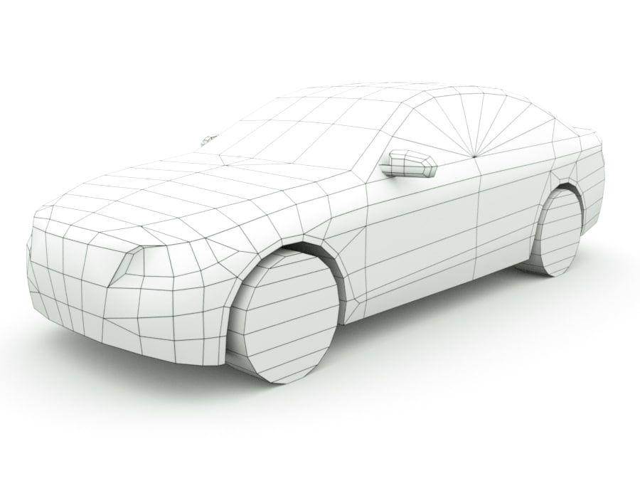 Generic Sedan v7 royalty-free 3d model - Preview no. 7