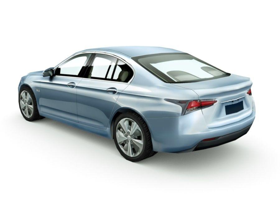Generic Sedan v7 royalty-free 3d model - Preview no. 2