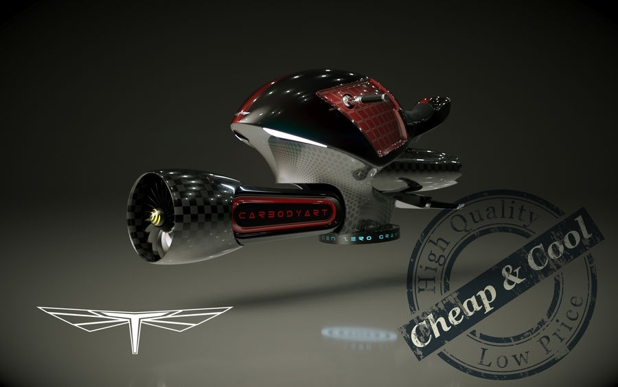 \\ T // Orca Hover Bike royalty-free 3d model - Preview no. 1