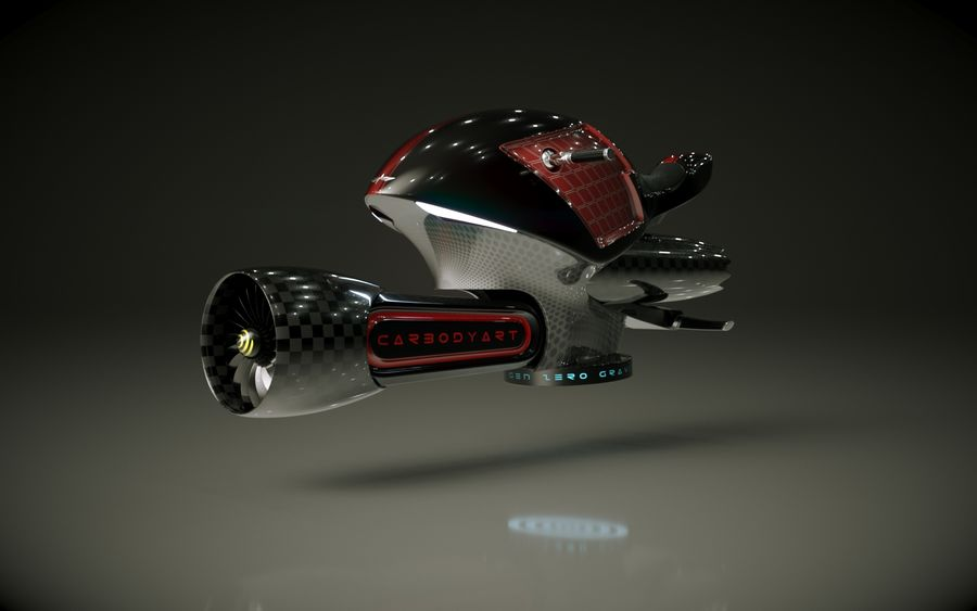 \\ T // Orca Hover Bike royalty-free 3d model - Preview no. 2