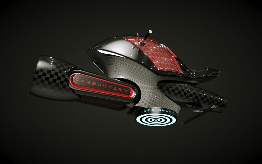 \\ T // Orca Hover Bike royalty-free 3d model - Preview no. 10