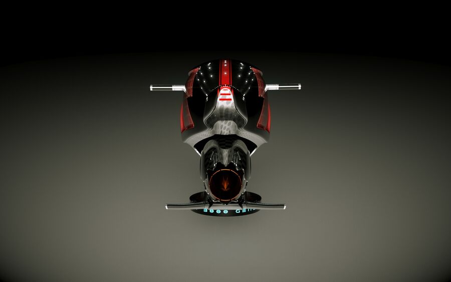 \\ T // Orca Hover Bike royalty-free 3d model - Preview no. 9