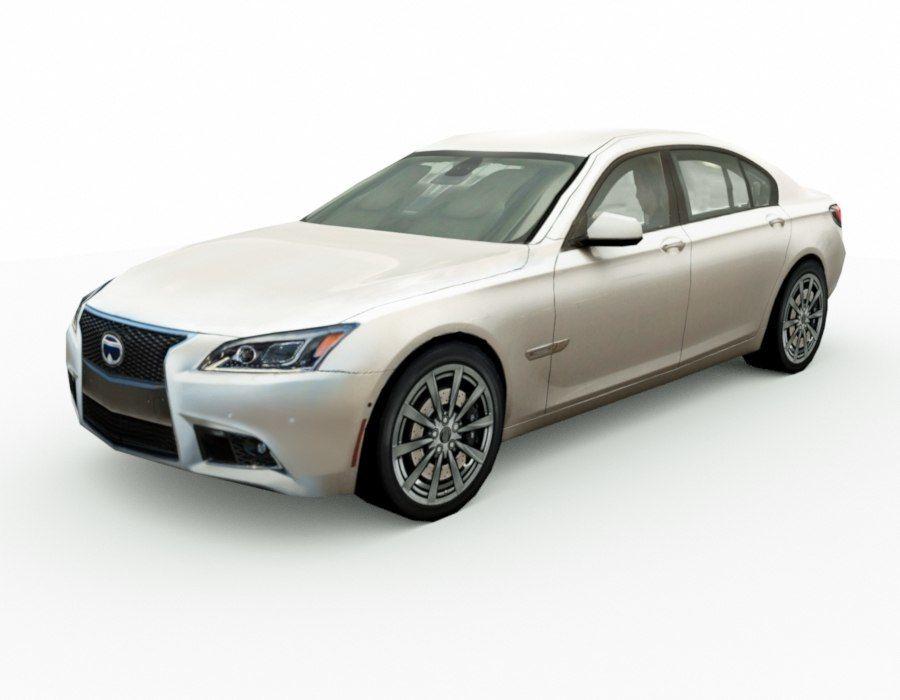 Generic Sedan v8 royalty-free 3d model - Preview no. 1