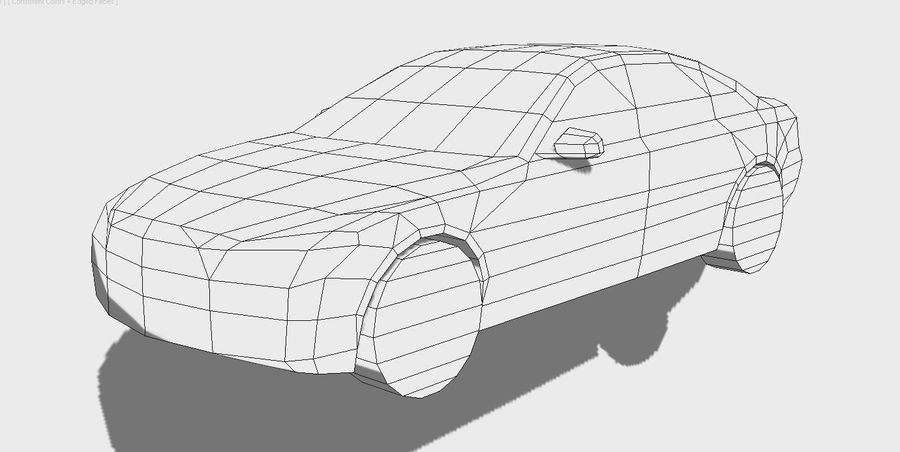 Generic Sedan v8 royalty-free 3d model - Preview no. 8