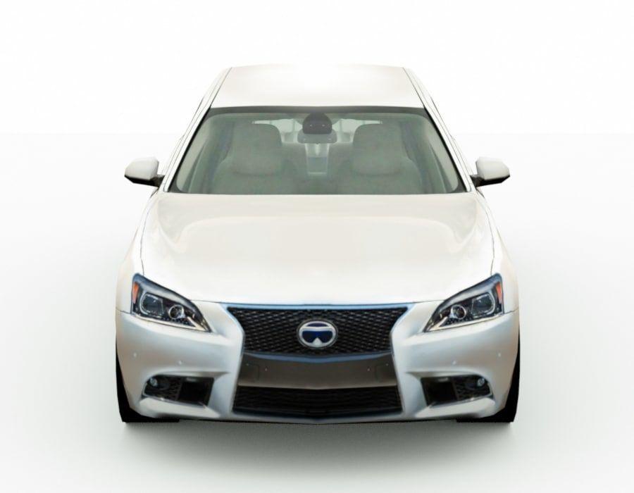 Generic Sedan v8 royalty-free 3d model - Preview no. 5