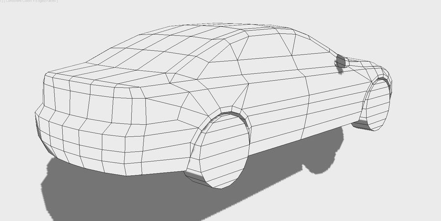 Generic Sedan v8 royalty-free 3d model - Preview no. 9