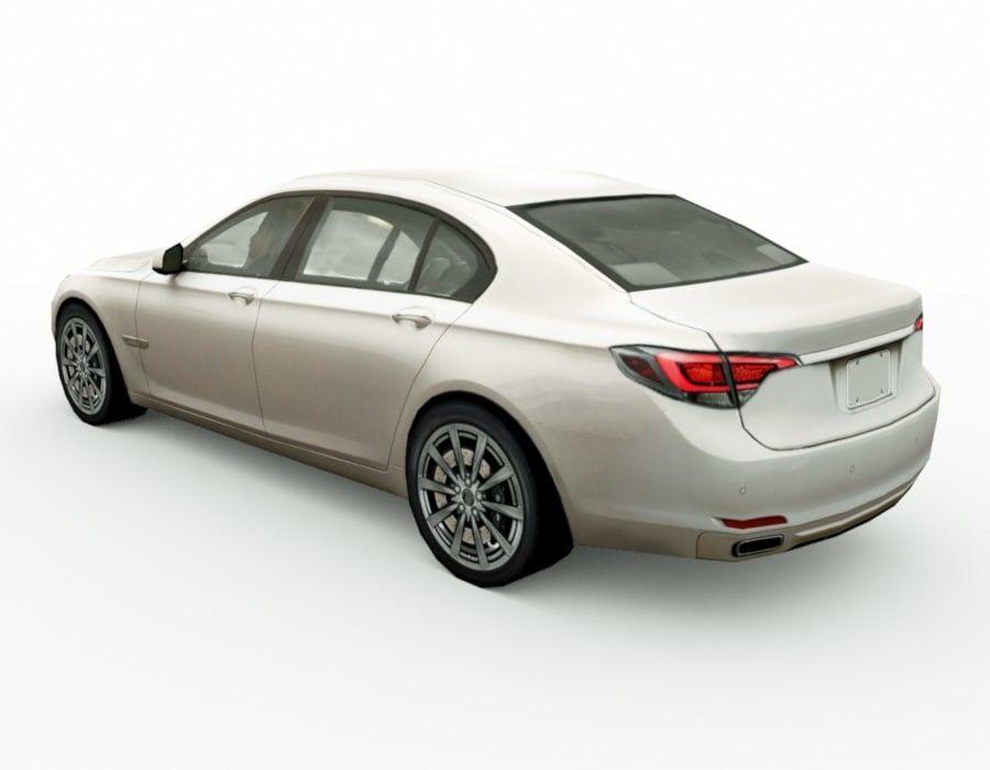 Generic Sedan v8 royalty-free 3d model - Preview no. 2