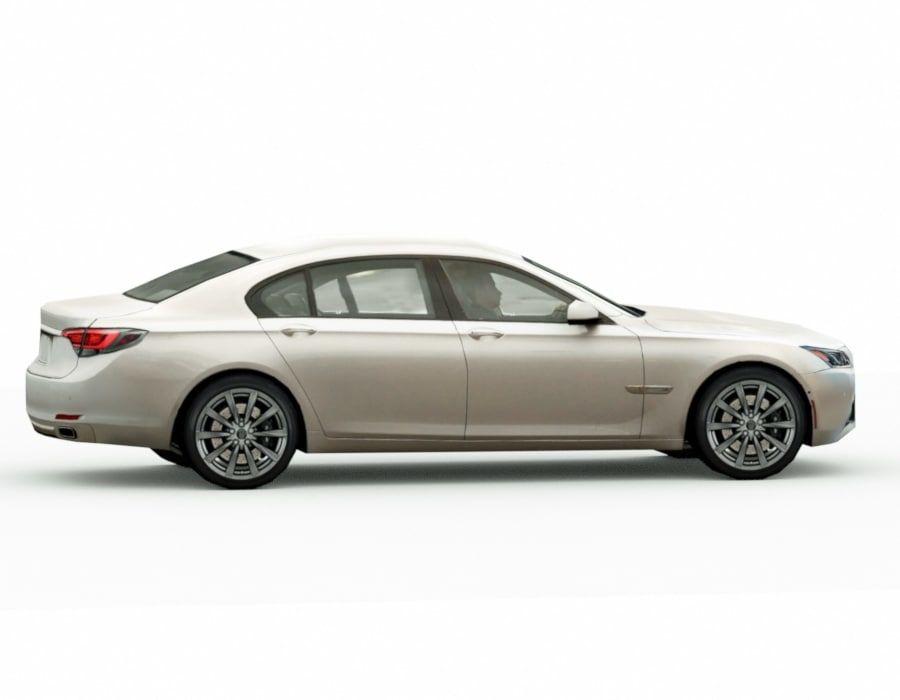 Generic Sedan v8 royalty-free 3d model - Preview no. 4