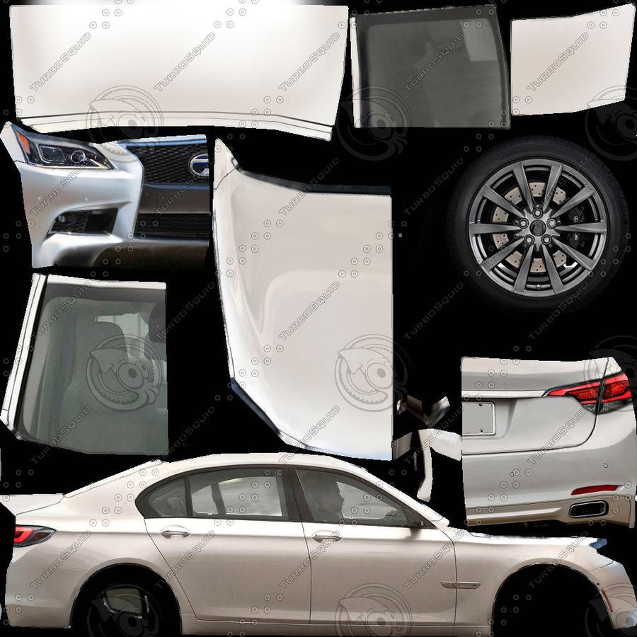 Generic Sedan v8 royalty-free 3d model - Preview no. 7