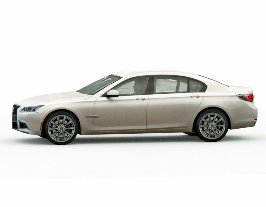Generic Sedan v8 royalty-free 3d model - Preview no. 3