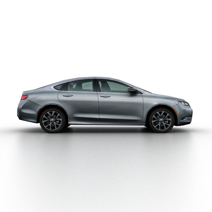 Chrysler 200 2015 royalty-free 3d model - Preview no. 3