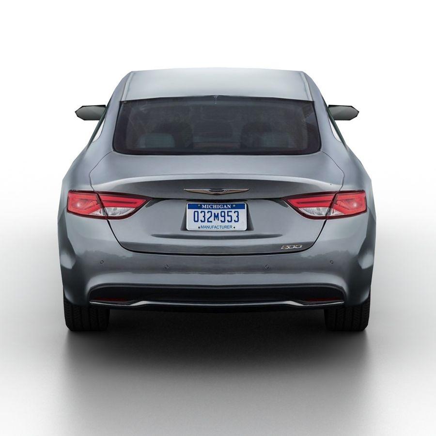 Chrysler 200 2015 royalty-free 3d model - Preview no. 5