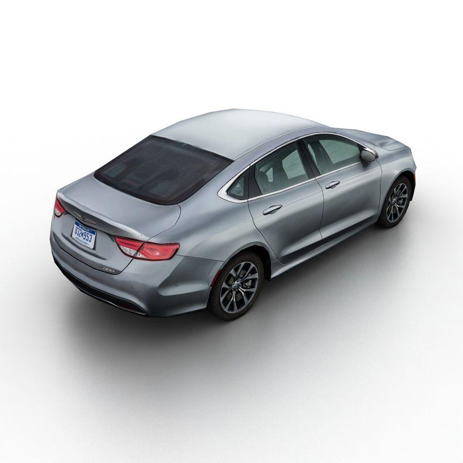Chrysler 200 2015 royalty-free 3d model - Preview no. 2