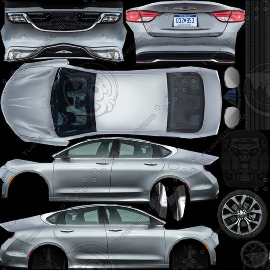 Chrysler 200 2015 royalty-free 3d model - Preview no. 9
