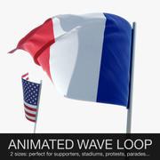 Geanimeerde vlag zwaaien 3d model