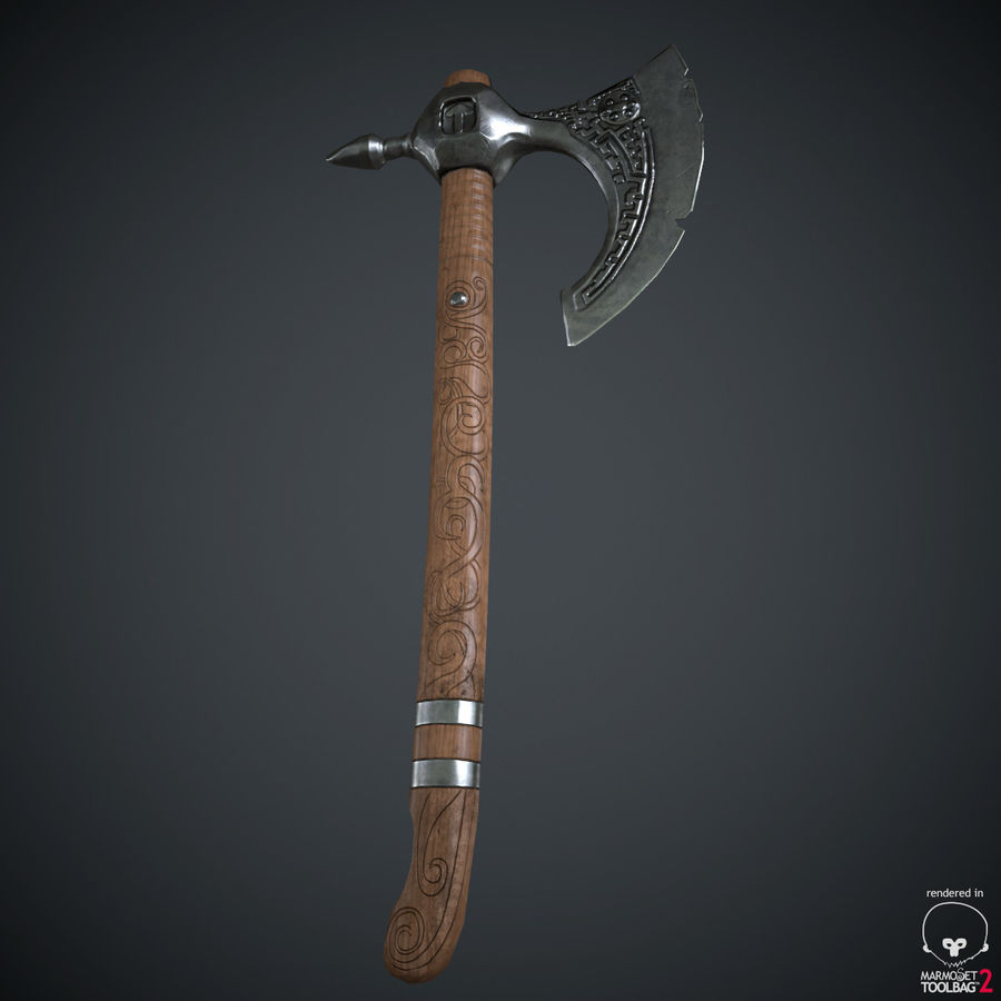 Axe Weapon royalty-free 3d model - Preview no. 22