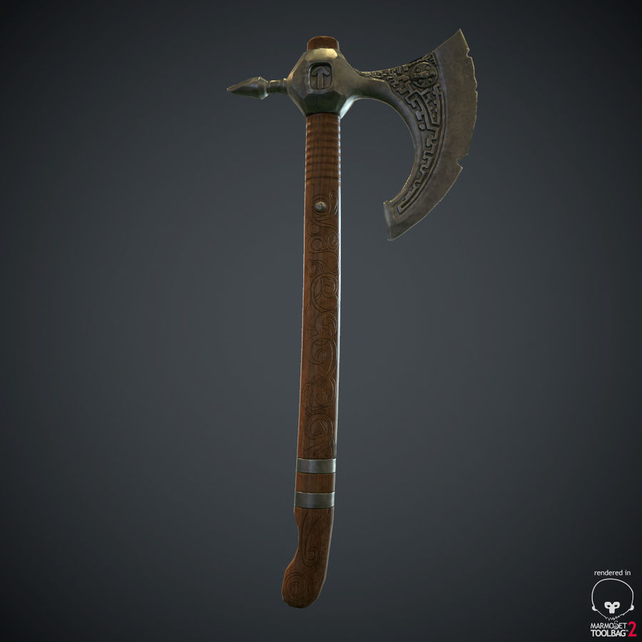 Axe Weapon royalty-free 3d model - Preview no. 13