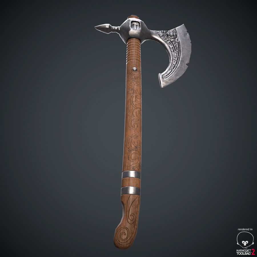 Axe Weapon royalty-free 3d model - Preview no. 12