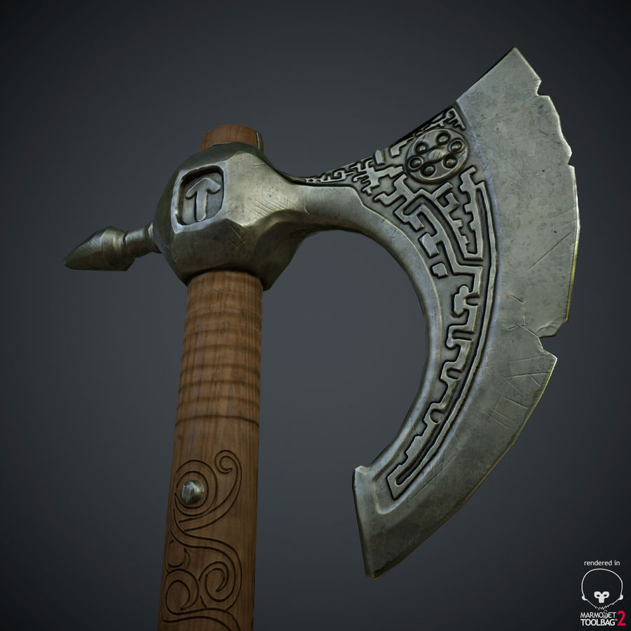 Axe Weapon royalty-free 3d model - Preview no. 14