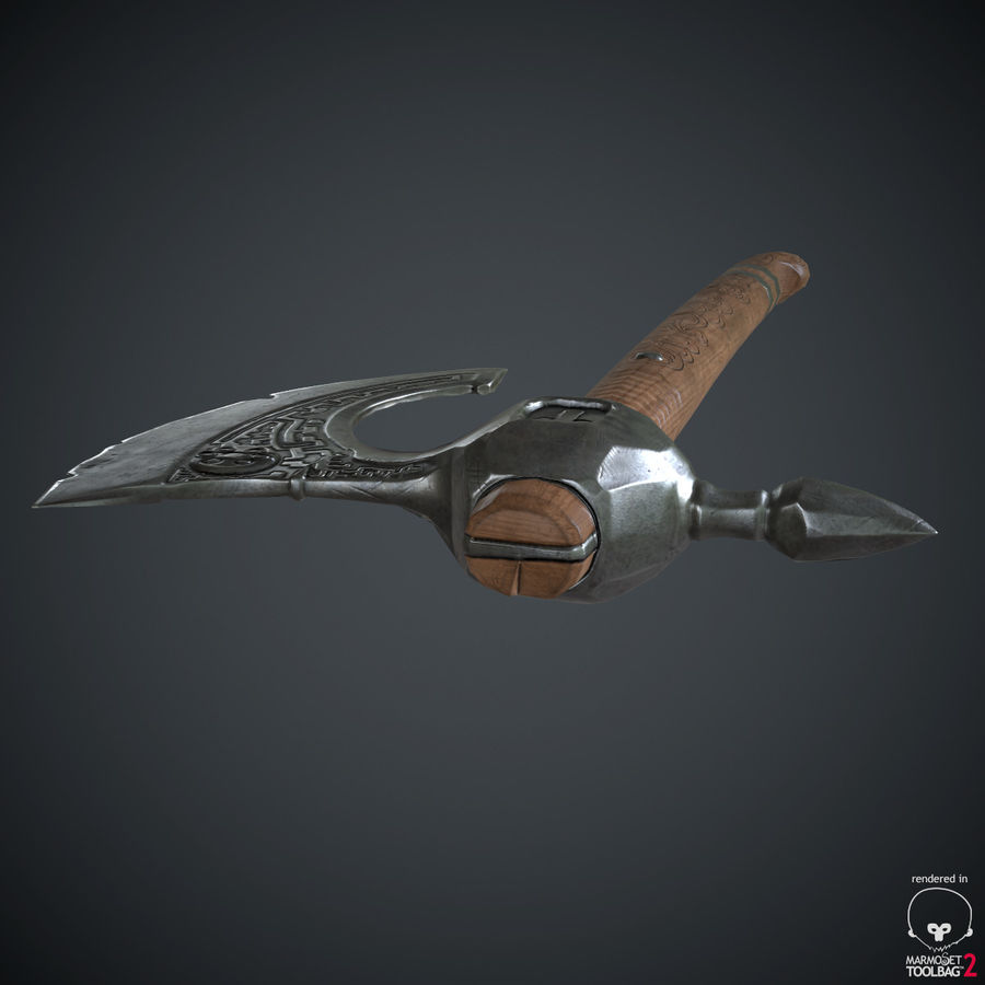 Axe Weapon royalty-free 3d model - Preview no. 19