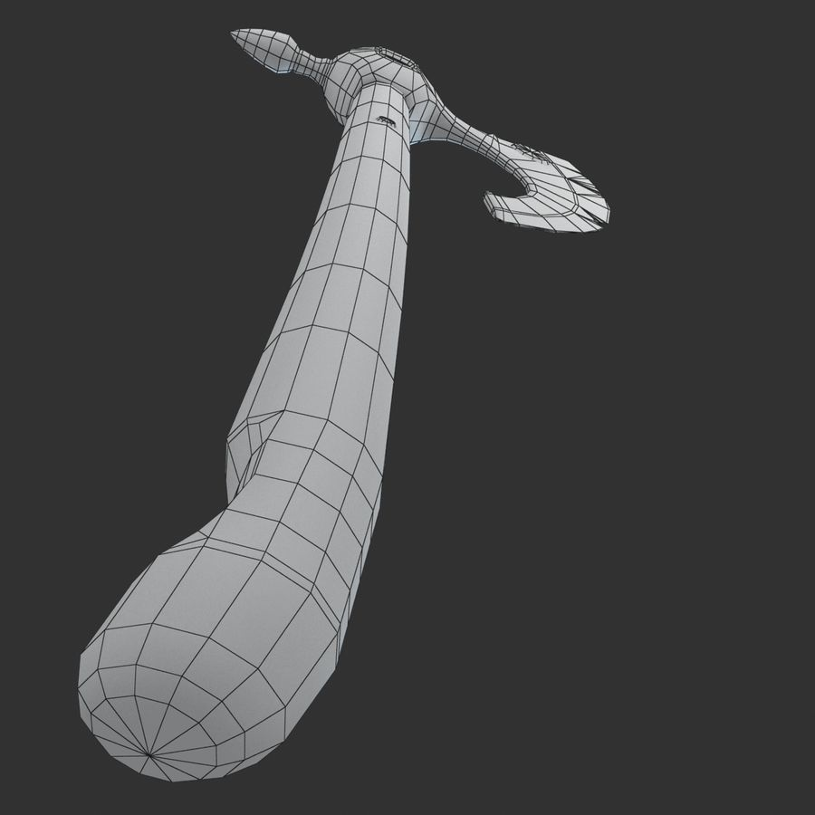Axe Weapon royalty-free 3d model - Preview no. 9