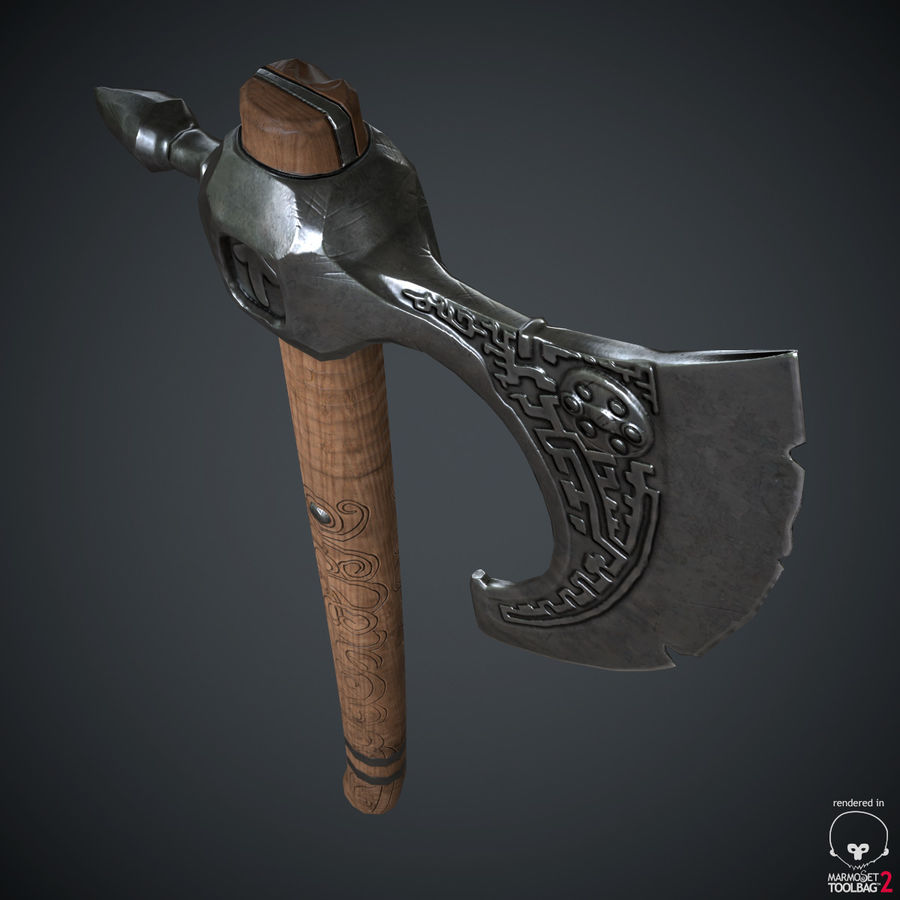 Axe Weapon royalty-free 3d model - Preview no. 16