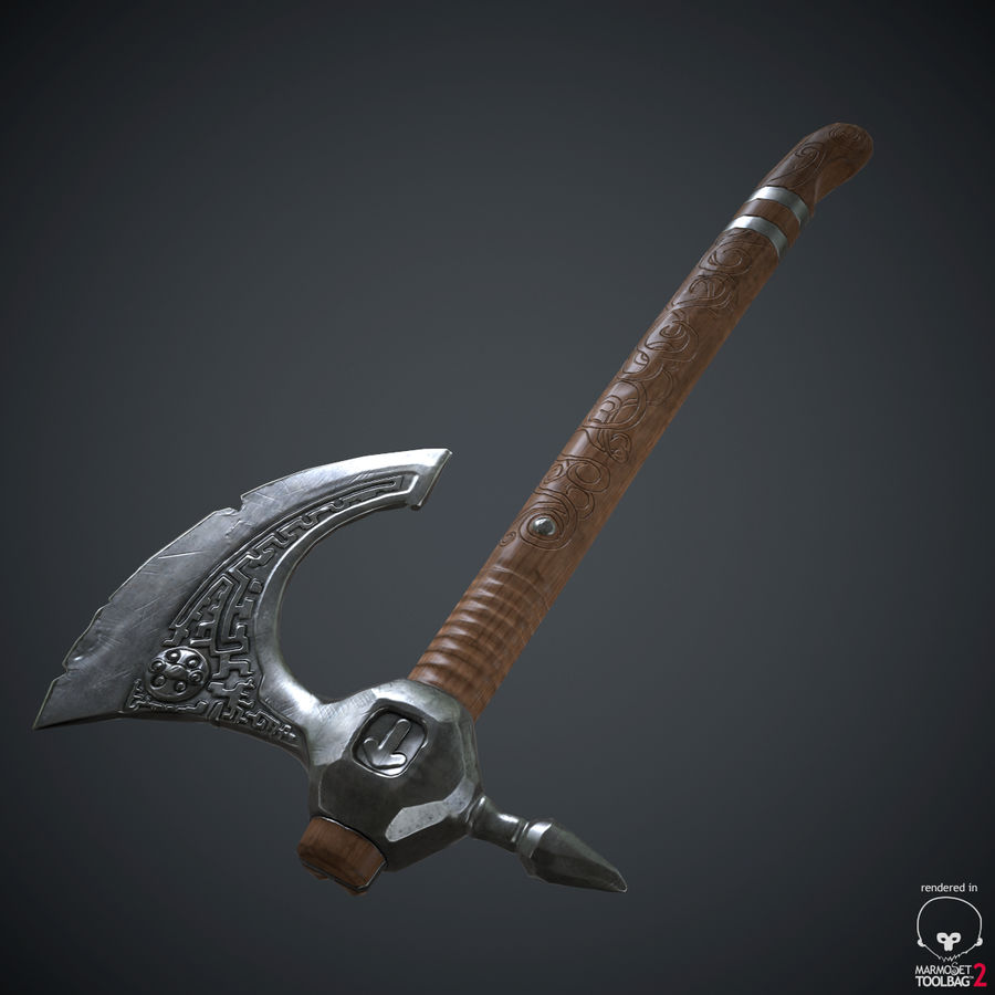 Axe Weapon royalty-free 3d model - Preview no. 18