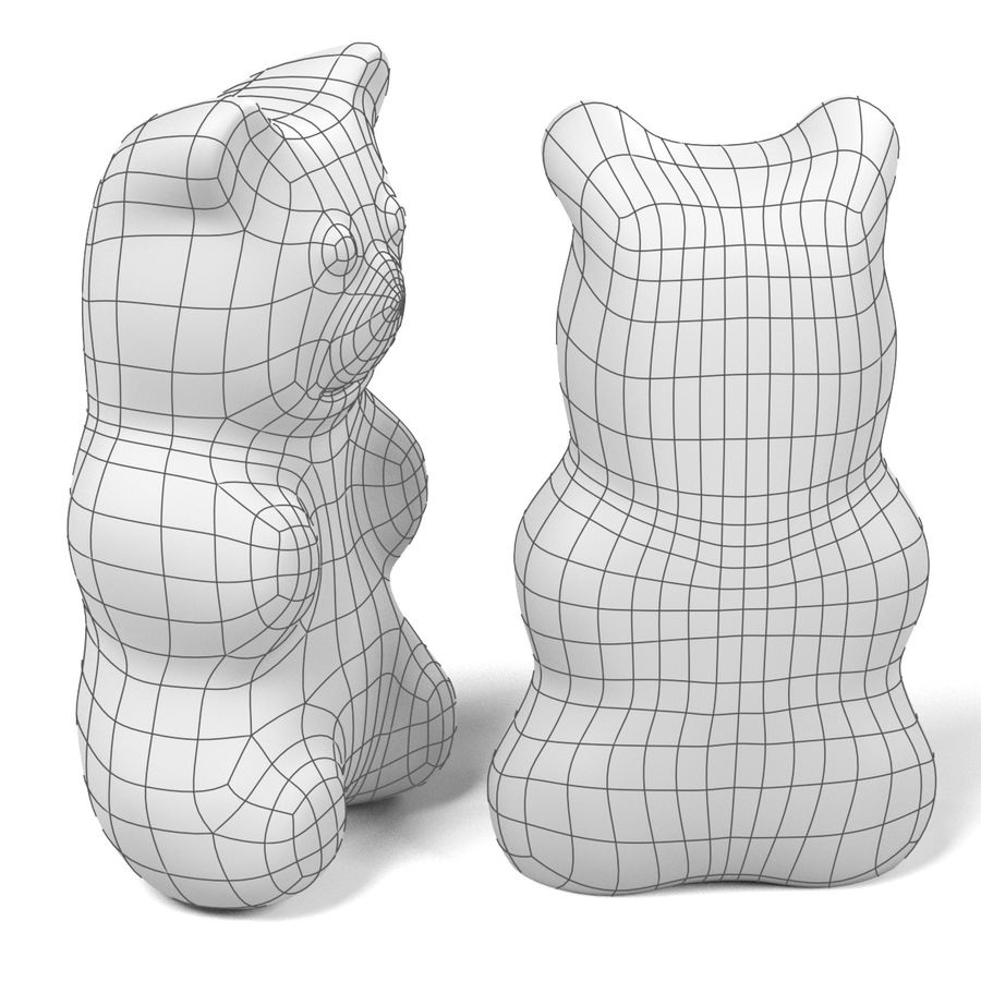 Gummy Bear royalty-free 3d model - Preview no. 12
