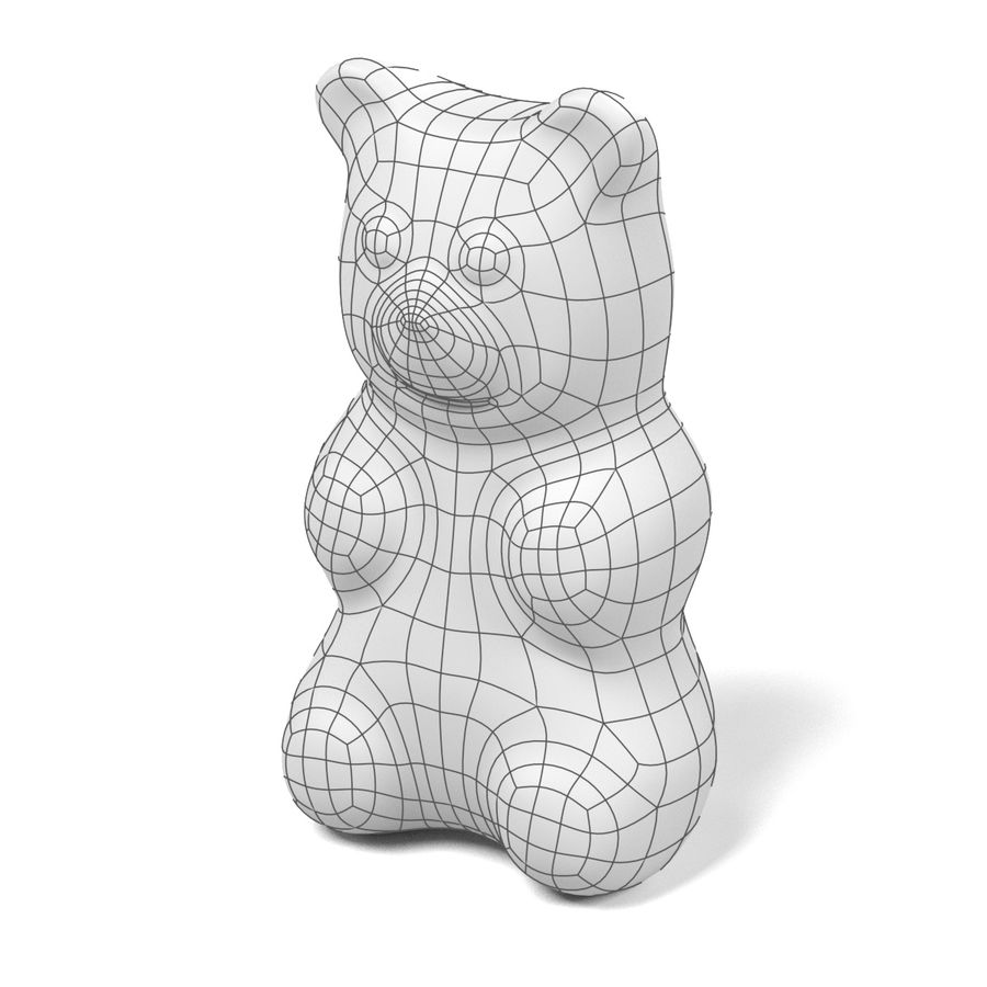 Gummy Bear royalty-free 3d model - Preview no. 11