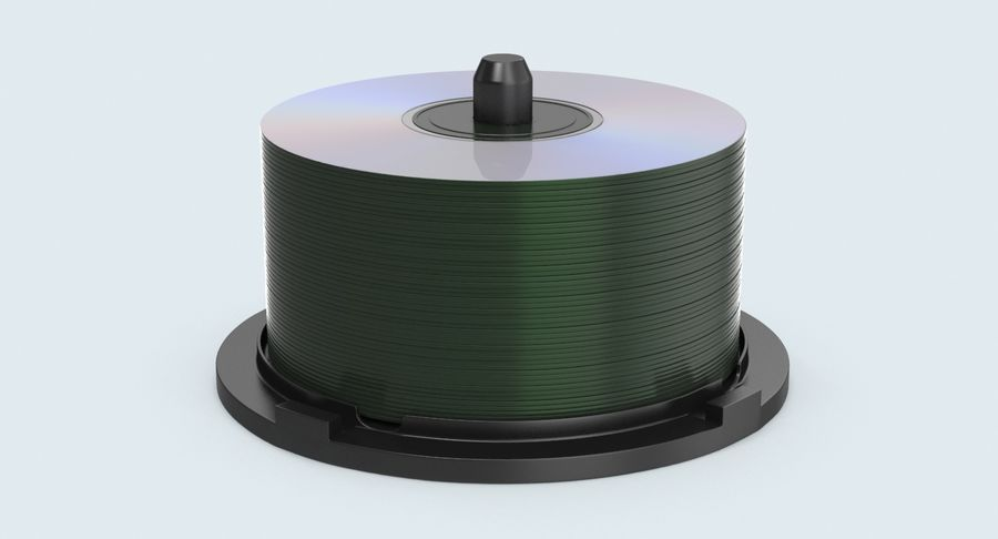 Spool of CDs royalty-free 3d model - Preview no. 3