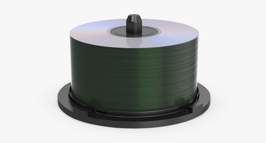 Spool of CDs royalty-free 3d model - Preview no. 2