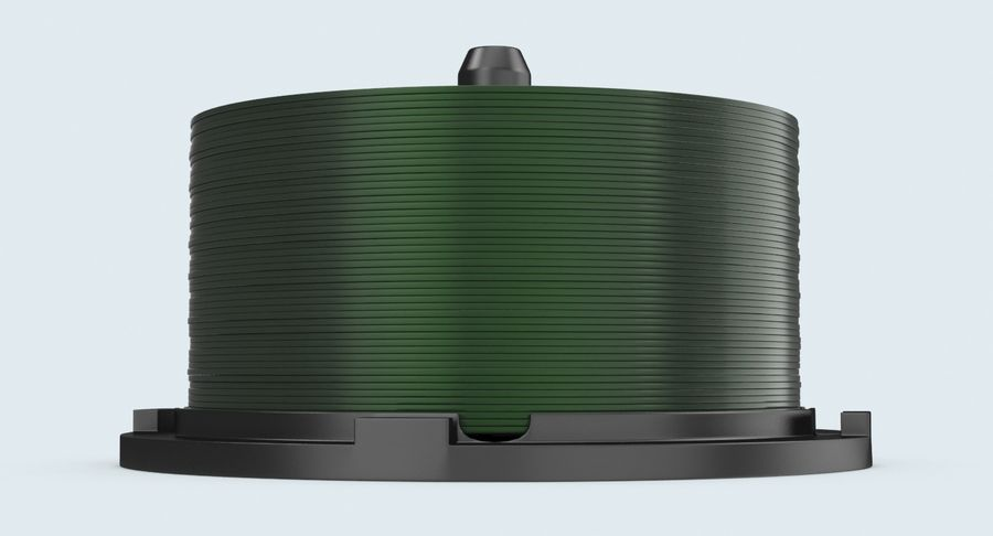 Spool of CDs royalty-free 3d model - Preview no. 7