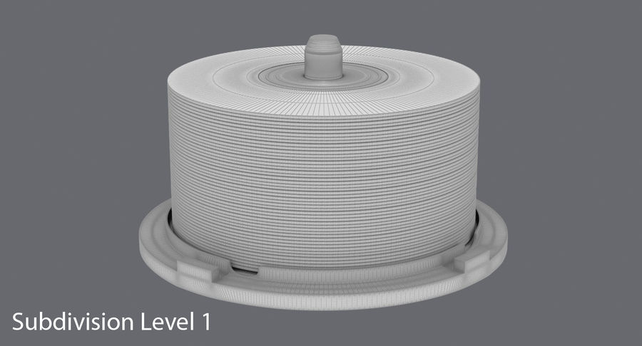 Spool of CDs royalty-free 3d model - Preview no. 14