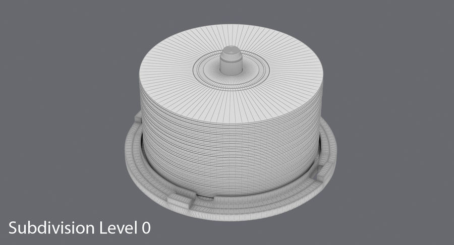 Spool of CDs royalty-free 3d model - Preview no. 17