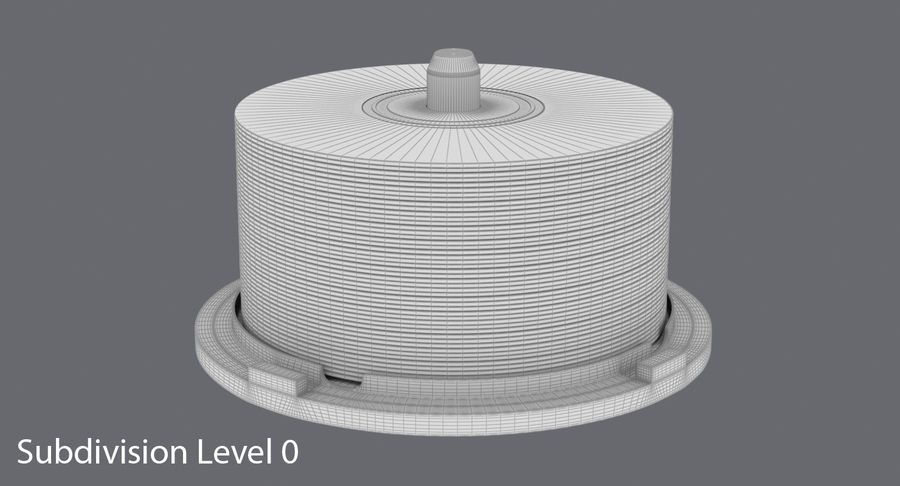 Spool of CDs royalty-free 3d model - Preview no. 13