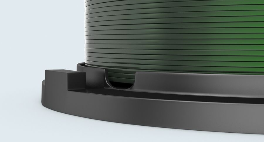 Spool of CDs royalty-free 3d model - Preview no. 10