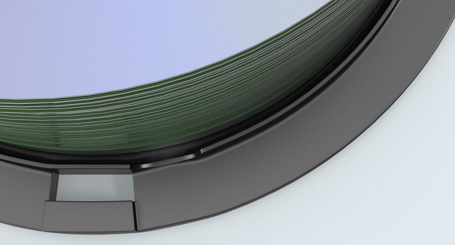 Spool of CDs royalty-free 3d model - Preview no. 9