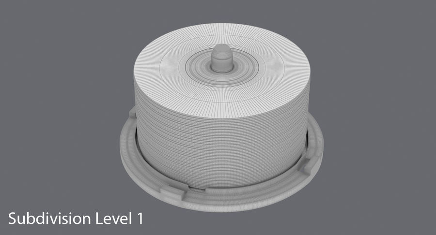 Spool of CDs royalty-free 3d model - Preview no. 18