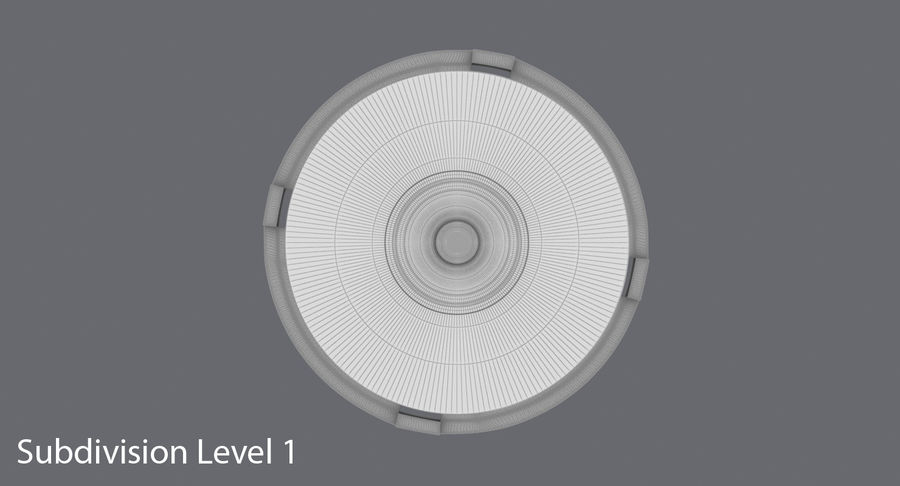 Spool of CDs royalty-free 3d model - Preview no. 15