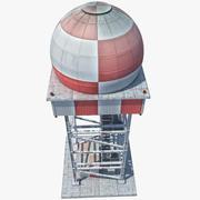 Torre de radar modelo 3d